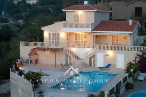 Elegant villa in Tala with amazing views over Coral Bay - exclusive property on the hills, Paphos, Cyprus