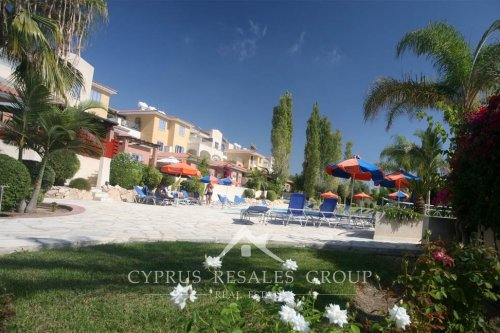Impressive garden of Pafilia Tala Gardens apartments, living on elevation above the coast with stunning sea views, Cyprus