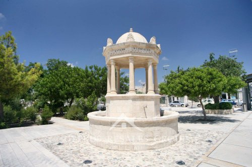 Wishing well on central square in Geroskipou, Cyprus