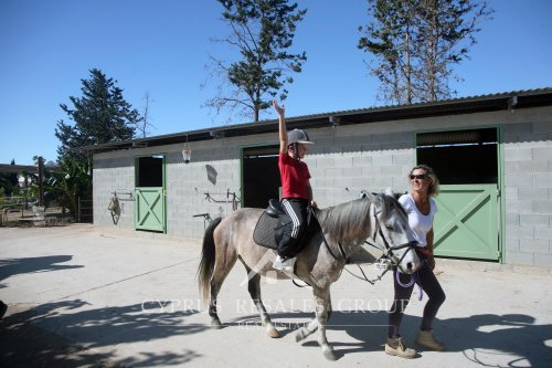 Geroskipou Equestrian - fun pony rides for children for only 10 euro