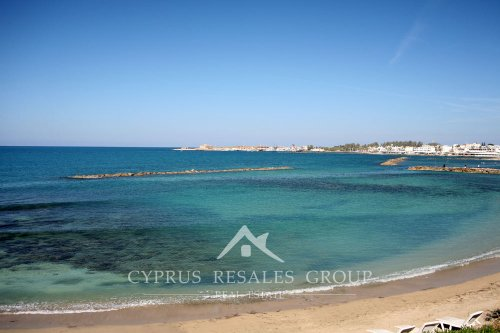 View of Byzantine Castle in Paphos harbor, Cyprus