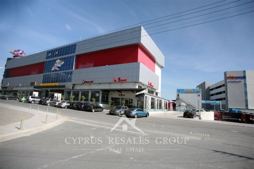 Planet Adventure entertainment center and modern Alfa Mega supermarket in Paphos