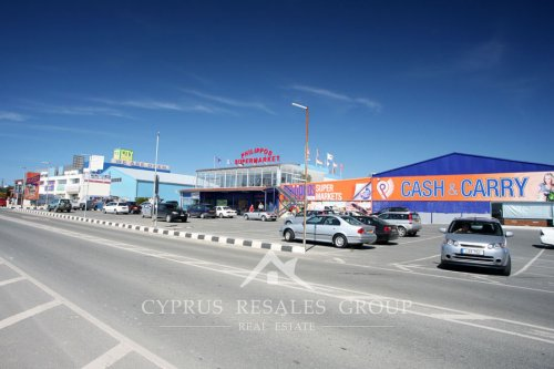Phillipos supermarket and City supermarket in Coral Bay, Paphos, Cyprus
