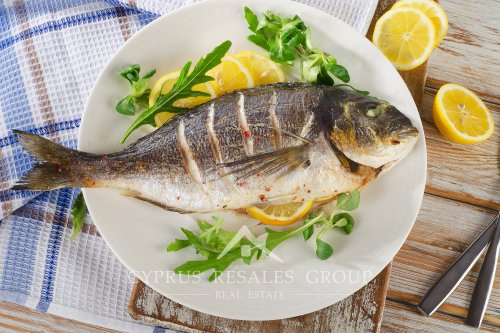 Cyprus is supplied with fresh Mediterranean Fish.