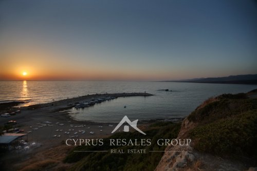 Sunset in St George over Akamas peninsular and Lara Bay, Peyia, Cyprus