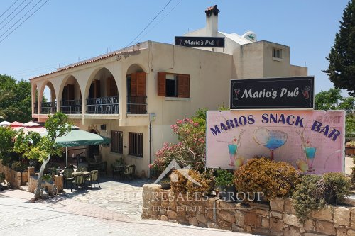 Marios Snack Bar in Tala square, Cyprus