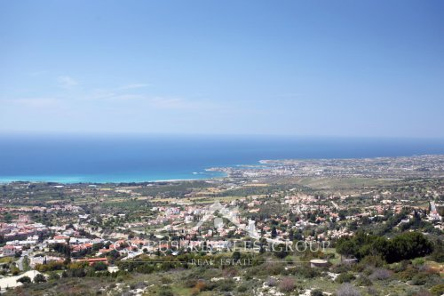 Views towards coast of Coral Bay from Melissovounos area in the upper part of Tala, Paphos